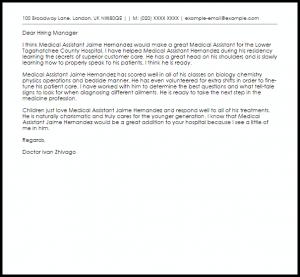 best love letter for him medical assistant recommendation letter