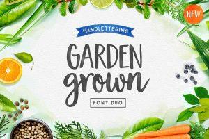 best newsletter templates garden grown spring font