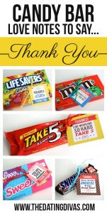 best thank you notes candy bar love notes to say thank you