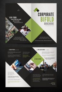 bi fold brochure corporate bi fold brochure template