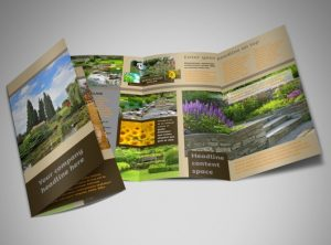 bi fold brochure template landscape design tri fold brochure template