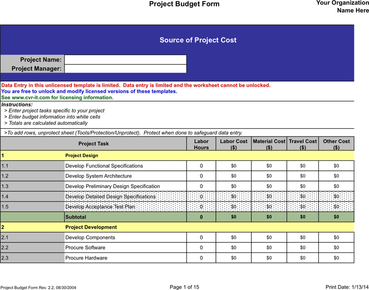 construction specifications template - bi weekly budget template template business