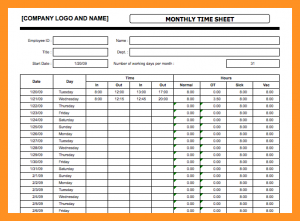 Time Sheets Template | Bi Weekly Timesheet Template Business