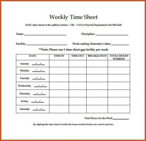 bi weekly timesheet weekly timesheet template weekly timesheet template