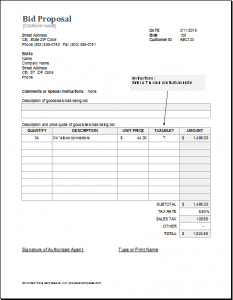 bid proposal template bid proposal new