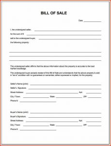 bill of sale for a trailer bill of sell form bill of sale word template