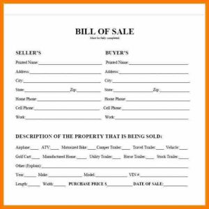bill of sale for a trailer what does a bill of sale look like bill of sale