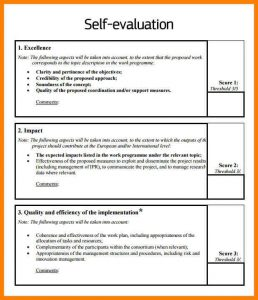bill of sale for business self appraisal examples self evaluation example