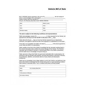 bill of sale for car in ga