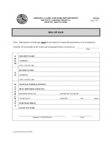 bill of sale for car pdf watercraft bill of sale form arizona l