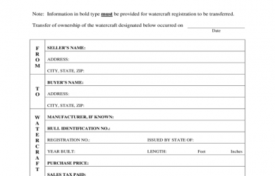 bill of sale for car pdf watercraft bill of sale form arizona l