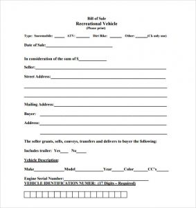 bill of sale for motorcycle motorcycle bill of sale template