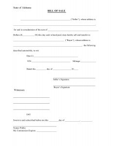 bill of sale form pdf alabama bill of sale form