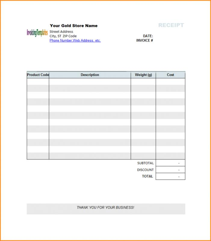 bill of sale receipt template business