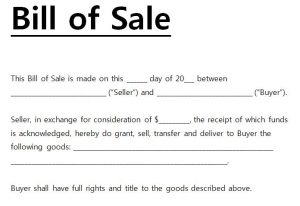 bill of sale sample bill of sale template word