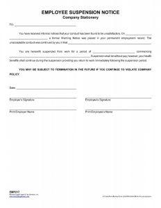 bill of sale virginia employeesuspensionnoticecompanystationery