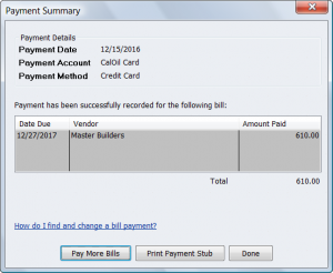 bill pay template payment summary bill pmt stub