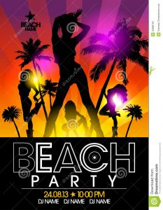 billboard design template beach party design template fashion girls rays light eps