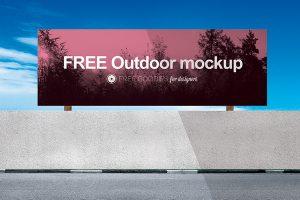 billboard design template free outdoor advertising mockup