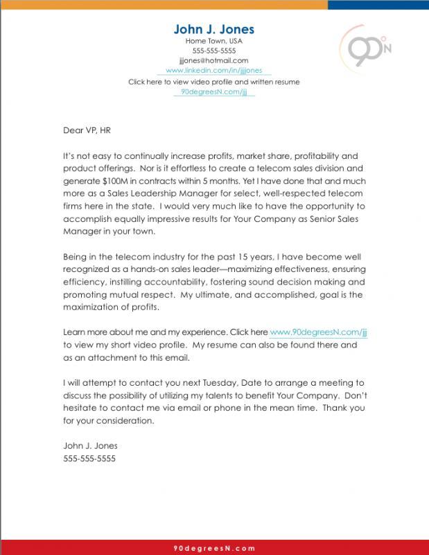biology cover letter