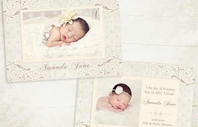 birth announcement template il xn bdm