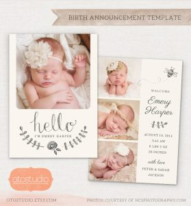 birth announcement template il fullxfull rf