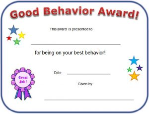 birth certificate maker printable good behaviour certificate template