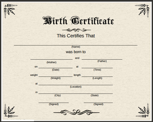 High Quality Fieldstation.co  Birth Certificate Template For School Project