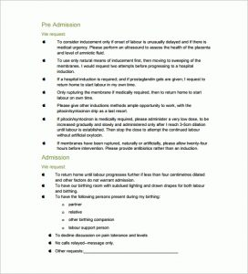 birth plan samples birth plan templates free sample example format download with regard to birth plan template