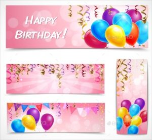 birthday banner template birthday celebration banner template