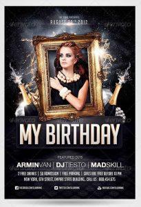 birthday bash flyer birthday party invitation flyer template