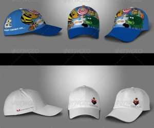 birthday bash flyer baseball hat polo t shirt mock up