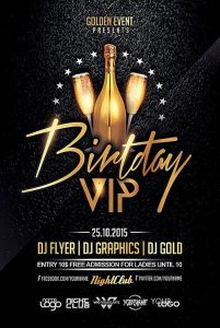 birthday bash flyer birthday vip flyer template ffflyer com