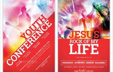 birthday bash flyer church youth event flyer