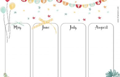 birthday calendar template birthday calendar template