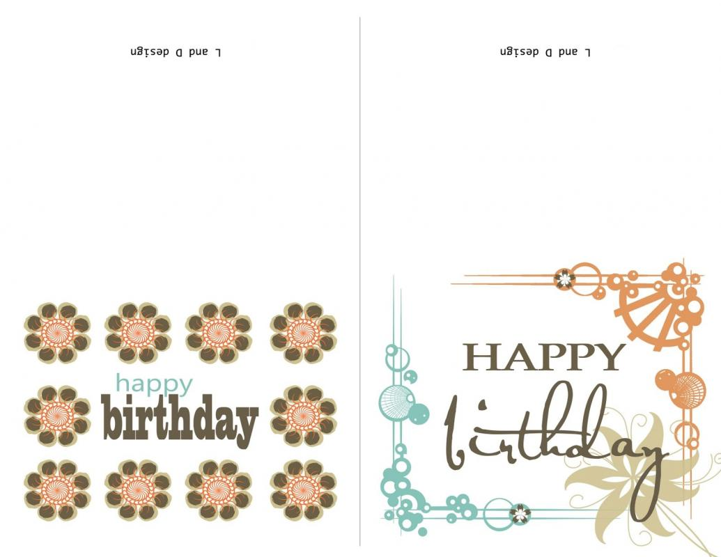 Birthday Card Template Word  Free Birthday Card Template Word