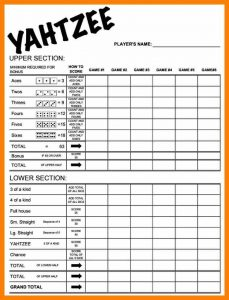 birthday card template word yahtzee score card printable