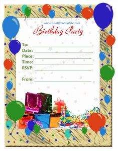 birthday flyer template birthday invitation card flyer