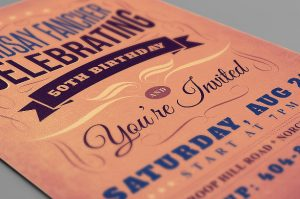 birthday flyer template retro birthday invitation