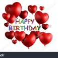 birthday list template stock photo happy birthday heart