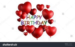birthday list template stock photo happy birthday heart