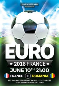 birthday party flyer euro soccer flyer template awesomeflyer com