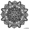 black and white abstract drawings hand drawn mandala by welshpixie dkqpae