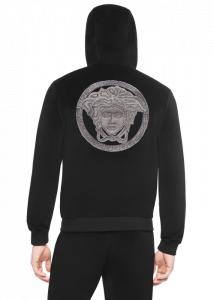 black hoodie template a a a chenillemedusahoodie athluxury versace online store