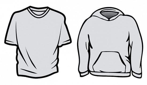 black hoodie template