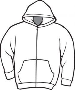 black hoodie template hoodie clipart