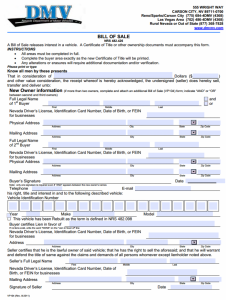 blank bill of sale pdf nevada motor vehicle bill of sale x