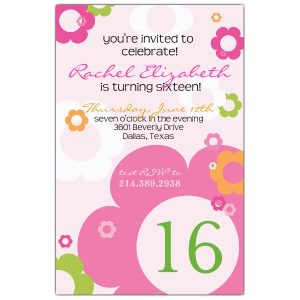 blank birthday invitations th birthday daisy invitations p bd z