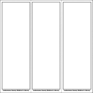 blank bookmark template template business
