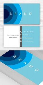 blank business card template psd business card deaign